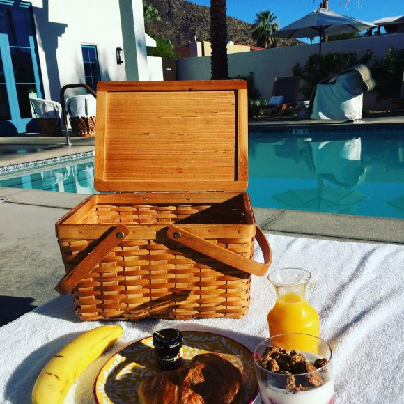 Who needs breakfast in bed when you have complimentary breakfast in a picnic basket by the pool.