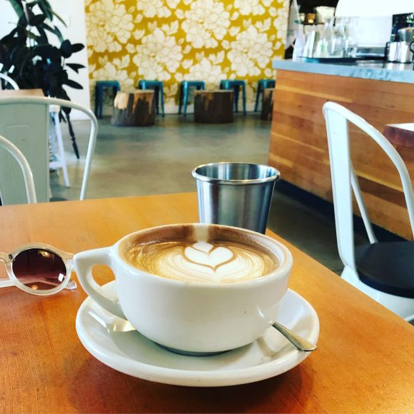 House-made almond-milk mocha at Scoute Coffee Co.