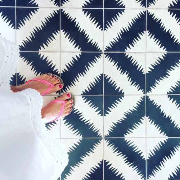 California standard issue flip-flops at Las Serenas Villas in Palm Springs.