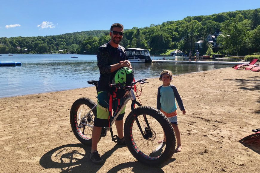 Adventure time: Fat bikes are one of the many free amenities available at the hotel.