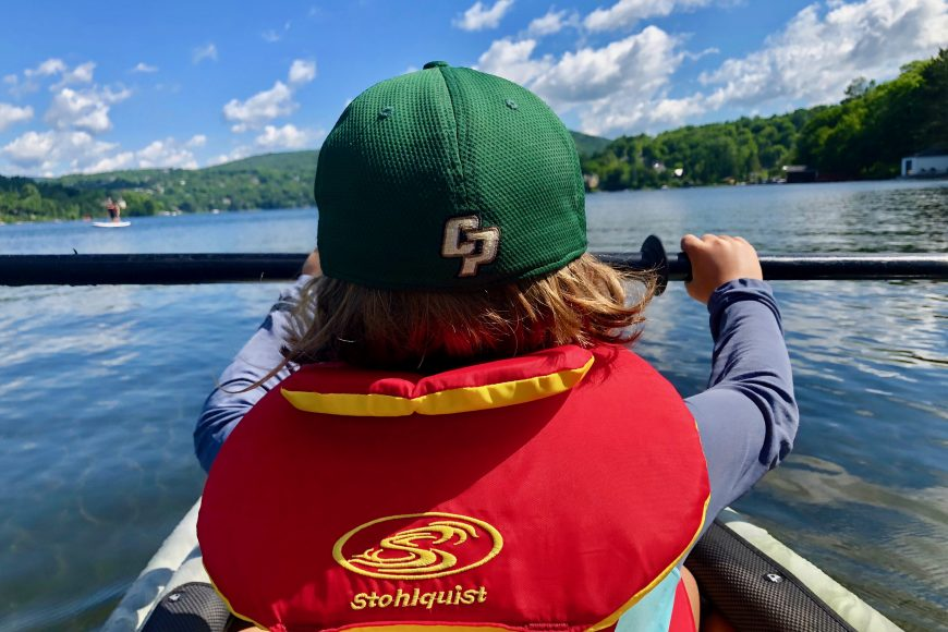 Lake life: Our little one listed kayaking as his favorite part of the trip.