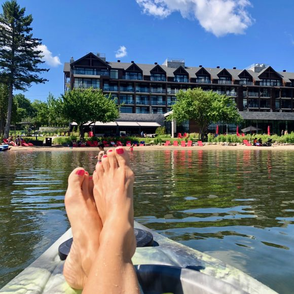 The livin' is easy: Catch an afternoon sunset or morning paddle on one of the hotel's free kayaks and paddle boards.