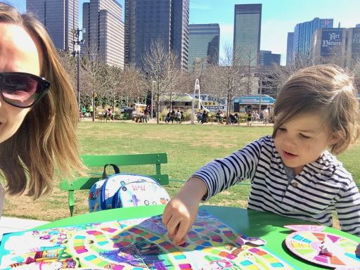 Candy Land anyone? Borrow a board game at Klyde Warren Park's game kiosks.