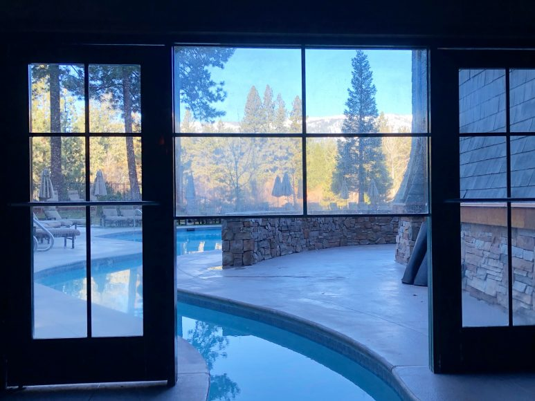 Hit the heated pool from the inside out!