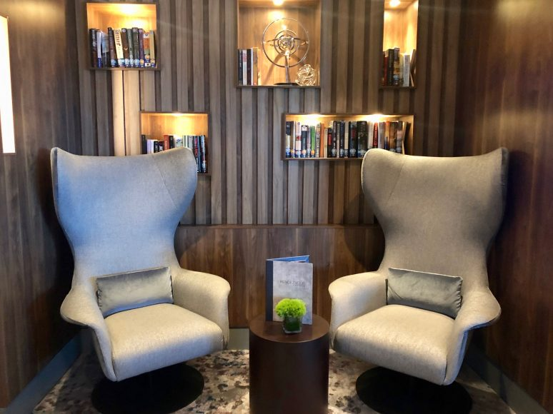 Cozy nooks in the Rendezvous Lounge. {Photo: Kerry Cushman}