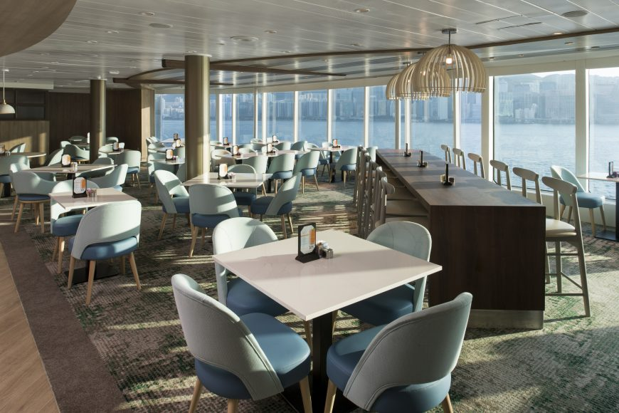 Serene, seaside dining at the Oceanview Cafe. {Photo: Celebrity Cruises}