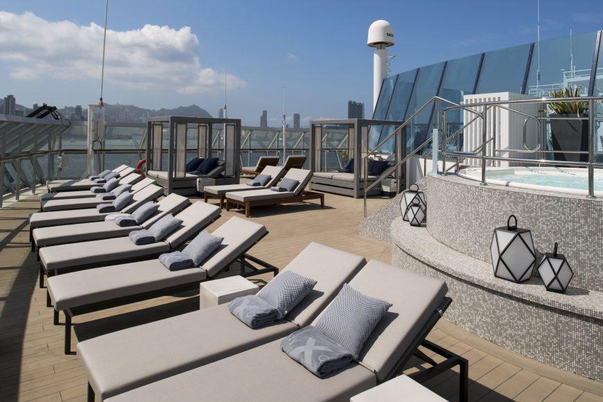 The Retreat Sun Deck aboard Celebrity Summit. {Photo: Celebrity Cruises}