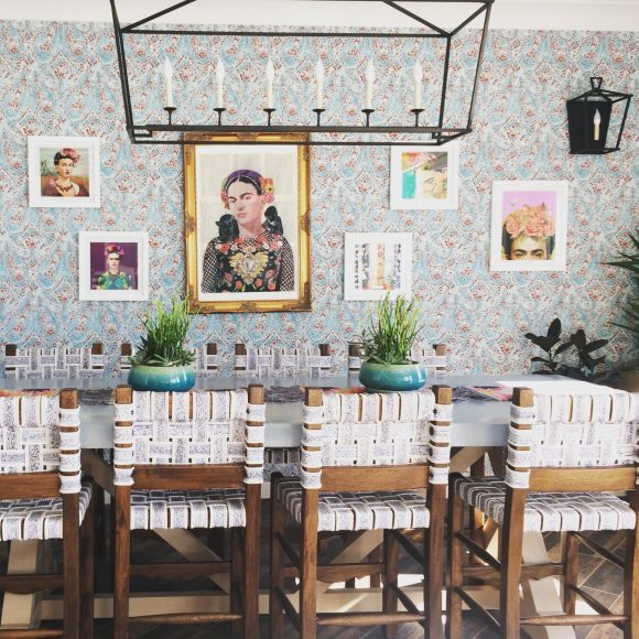Spanish bohemian dining decor with a modern twist.