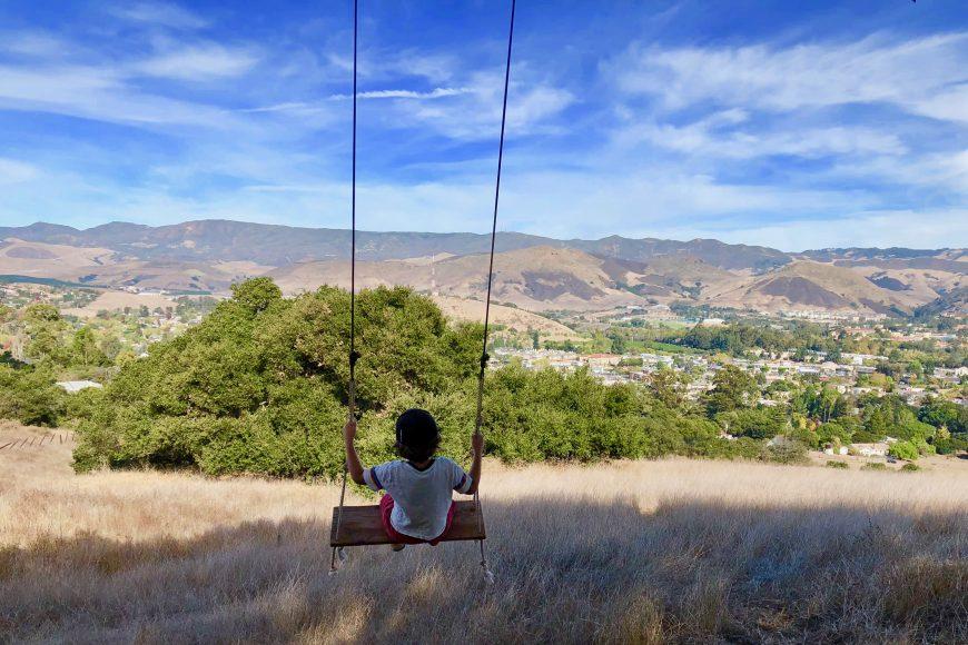"Kid-friendly lower trail on Cerro San Luis ""M"" Mountain."