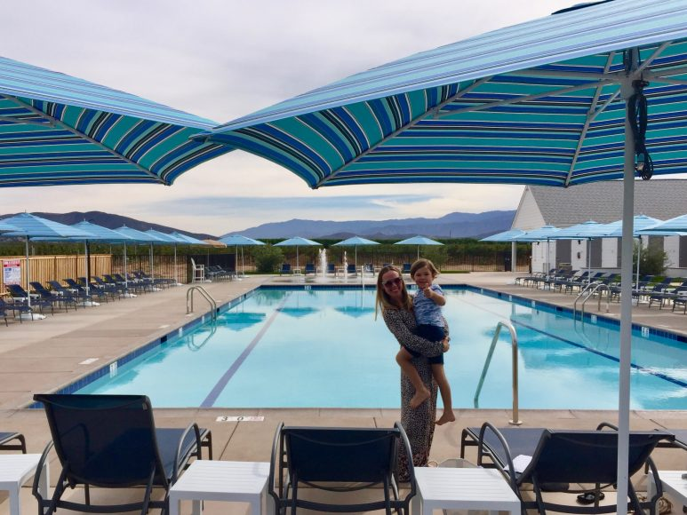Family-friendly day use pool at BOTTAIA Winery.