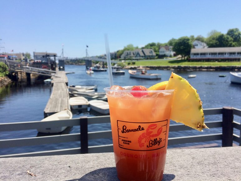 Summertime and the livin' is easy. Barnacle Billy's in Ogunquit, Maine.