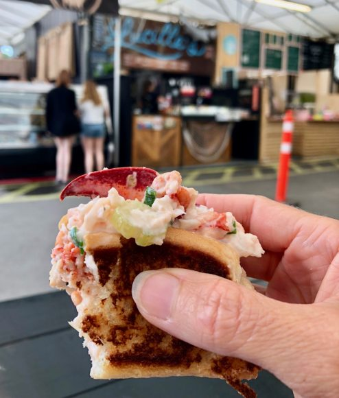 Lucille's lobster roll at the Atwater Public Market.