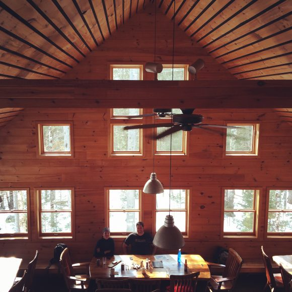 No roads lead to Maine Huts & Trails. Snow shoe, ski, bike or hike into this warm respite.
