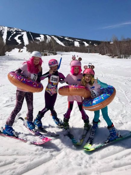 Ski girls are tough cookies...er' donuts?