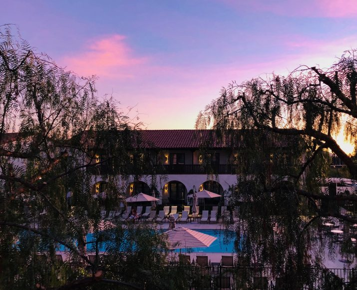 Balcony over-looking the pool at Ponte Vineyard Inn.
