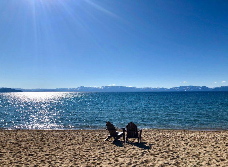 Front row seat to stunning Lake Tahoe.