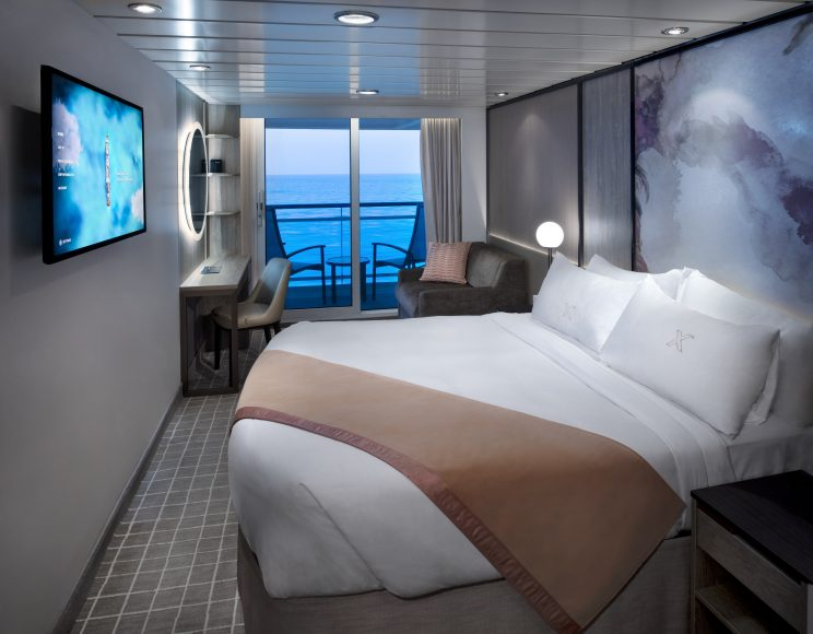 Celebrity Summit's Veranda Stateroom. {Photo: Celebrity Cruises}
