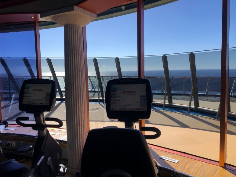 Workout with a view.